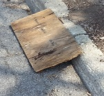 wooden ramp, get over a curb, how to build a ramp, makeshift ramp, ADA, Americans with Disabilities Act, Two Step Solutions, O.T., home accessibility, access a parking lot, curb cut, curb